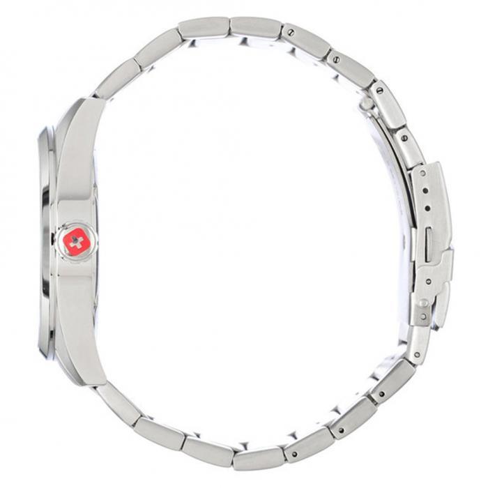 SKU-53011 / SWISS MILITARY HANOWA Mountaineer Silver Stainless Steel Bracelet