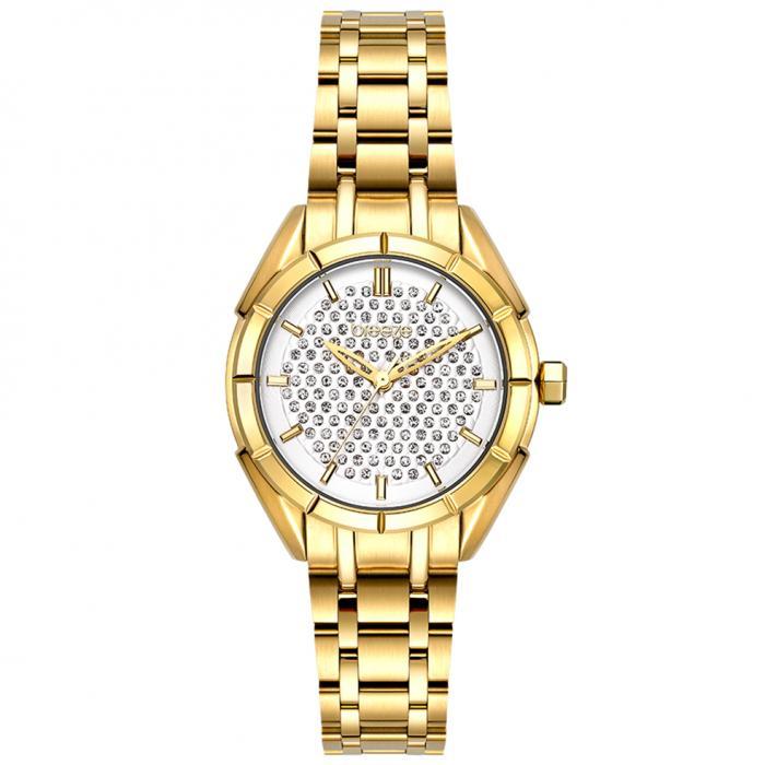 SKU-54375 / BREEZE Gemstonia Crystals Gold Stainless Steel Bracelet