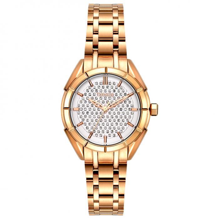 SKU-54374 / BREEZE Gemstonia Crystals Rose Gold Stainless Steel Bracelet