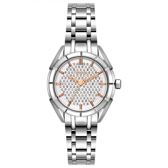 SKU-54376 / BREEZE Gemstonia Crystals Silver Stainless Steel Bracelet