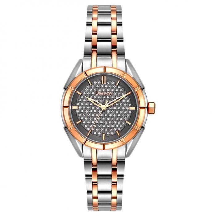 SKU-54381 / BREEZE Gemstonia Crystals Two Tone Stainless Steel Bracelet