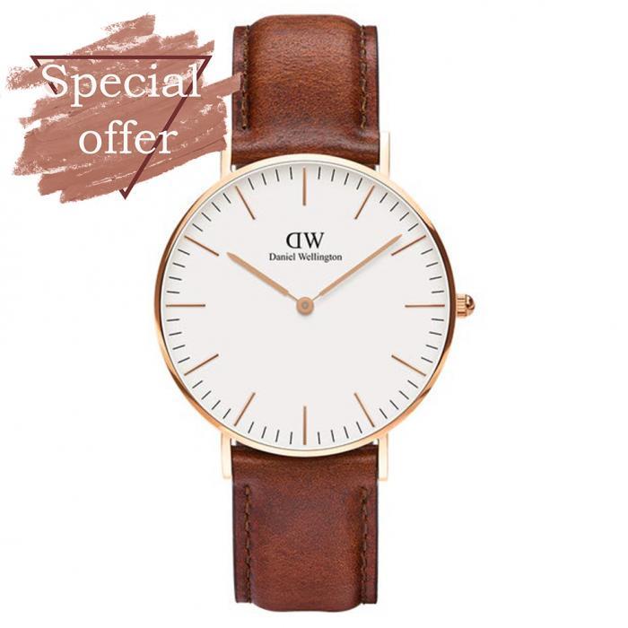 SKU-54013 / DANIEL WELLINGTON Classic St. Mawes Brown Leather Strap