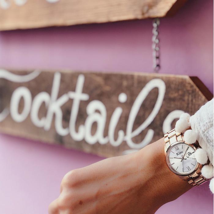 SKU-54056 / JCOU Elegance Petit Rose Gold Stainless Steel Bracelet