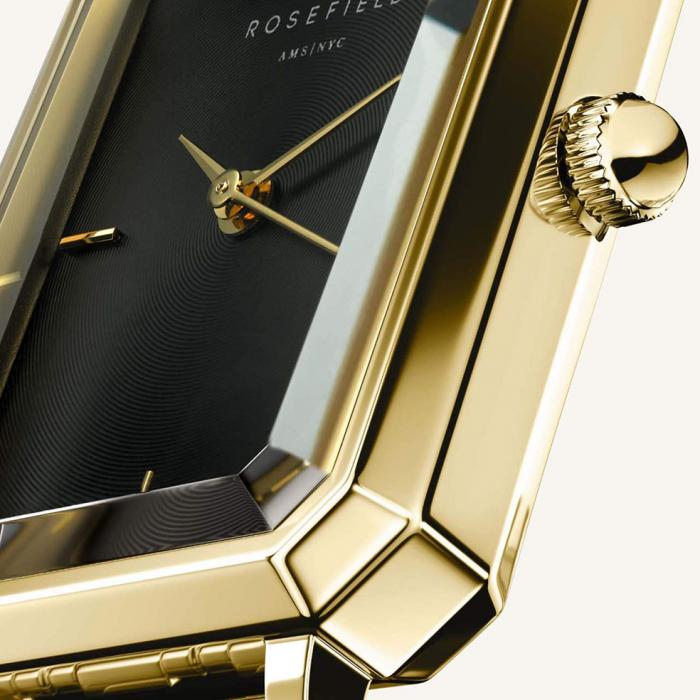 SKU-54020 / ROSEFIELD The Elles Octagon Gold Stainless Steel Bracelet