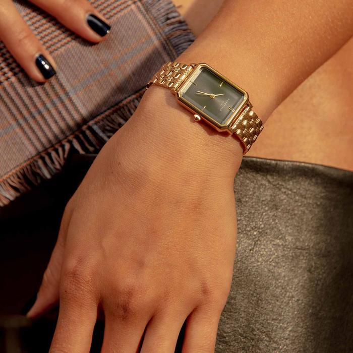ROSEFIELD The Elles Octagon Gold Stainless Steel Bracelet