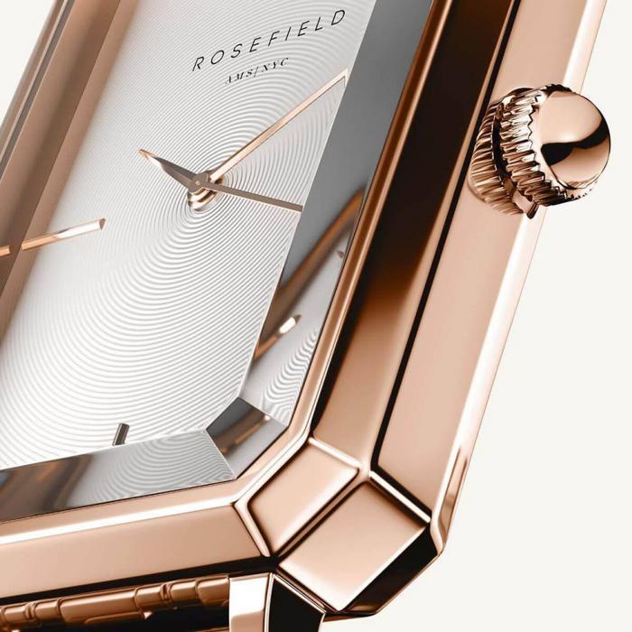 SKU-54030 / ROSEFIELD The Octagon Rose Gold Stainless Steel Bracelet