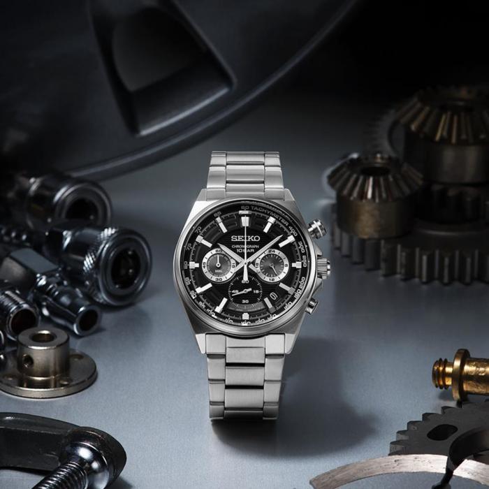SEIKO Conceptual Series Chronograph Silver Stainless Steel Bracelet