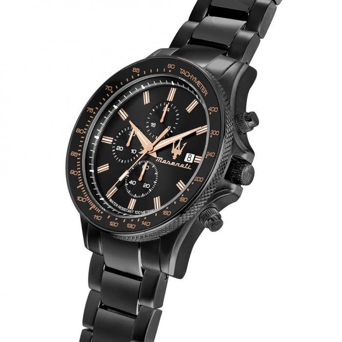 MASERATI Sfida Black Stainless Steel Bracelet