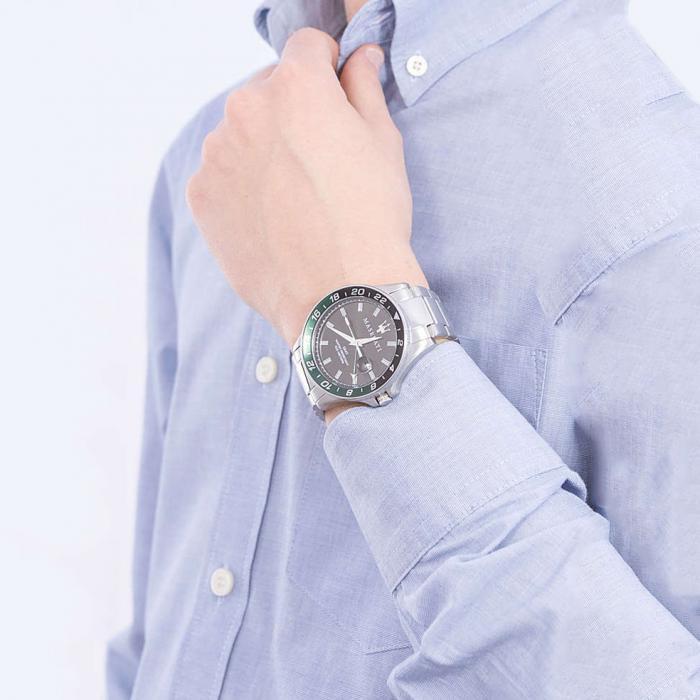 MASERATI Sfida Silver Stainless Steel Bracelet